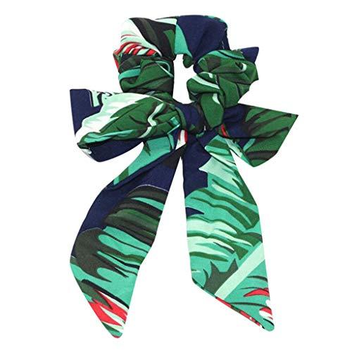 Masrin Bogen Streamer Haar Ring Mode Band Mädchen Haarbänder Haargummis Schachtelhalm Krawatte Solid Headwear Haarschmuck (N) -