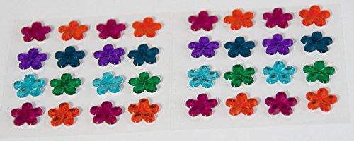 Preisvergleich Produktbild Smoobee Rainbow Flower Beautiful Gem Stickers Aufkleber for Customizing The No Cry Hairbrush Haarbürste - 32 pieces
