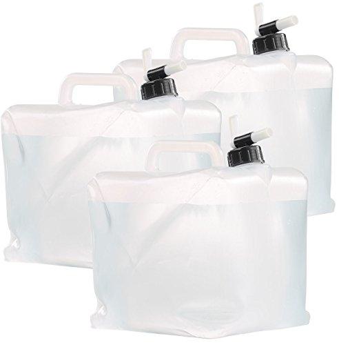Semptec Urban Survival Technology Wassertank Wohnwagen: Faltbare Wasserkanister mit Zapfhahn, 10 Liter, 3er-Set (Wasser-Tanks Wohnmobile)