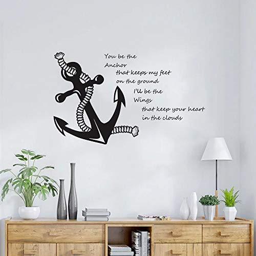Segeln Zitat mit Wandtattoo Nautische Zitate Wandaufkleber Wohnkultur Meer Stil Wand Poster Vinyl Wandbild-35x57 cm