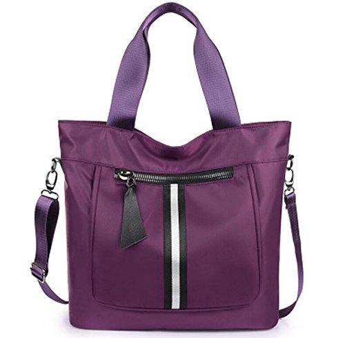 Spalla Panno Ms. Grande Borsa Di Nylon Viaggio Tote Borsa Di Tela Oxford Borse Messenger Bag Purple