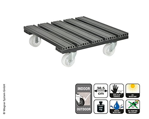 Wagner System 20054001 Multi-roller WPC Waggon de jardinage, Anthracite