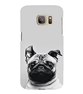 FUSON Puppy Pug Dog 3D Hard Polycarbonate Designer Back Case Cover for Samsung Galaxy S7 :: Samsung Galaxy S7 Duos :: Samsung Galaxy S7 G930F G930 G930Fd
