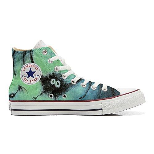 Converse All Star Hi Customized personalisiert Schuhe Unisex (Gedruckte Schuhe) Fledermaus ()