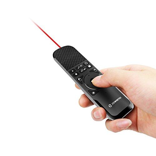 Zoweetek ZW-PPT PowerPoint Fernbedienung, Remote-Funktion, Air Mouse PPT, Reichweite 15Meter [evtl. nicht in deutscher Sprache] AUK-ZW-52007-1