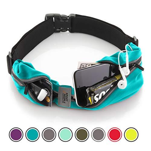 Cintura da corsa - iPhone X 6 7 8 Plus sacchetto per corridori. Riflettente marsupio porta telefono. Corsa accessori per uomini, donne. (Turchese)