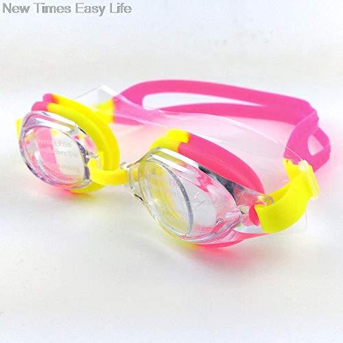 - Zorux - Bunte Adjustable Kinder Kinder wasserdichte Silikon-Anti-Fog UVschild Schwimmbrillen Goggles Brillen Brillen mit Box [Red]