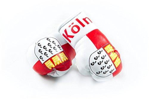 Mini Boxhandschuhe KÖLN, 1 Paar (2 Stück) Miniboxhandschuhe z. B. für Auto-Innenspiegel