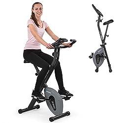 Kinetic Sports Fitnessfahrrad Ergometer Heimtrainer Hometrainer Fahrrad Fitnessbike Handpulssensoren, Trainingscomputer, 8 Widerstandsstufen, klappbar