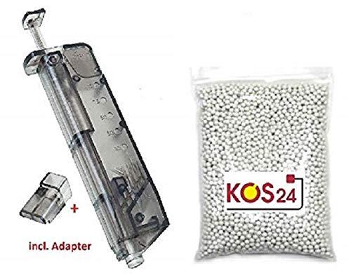 r BBS 0.20g Premium BB Kugeln 6mm Airsoft inklusive Speedloader, weiß 6 mm, BB´s ohne Grate ()