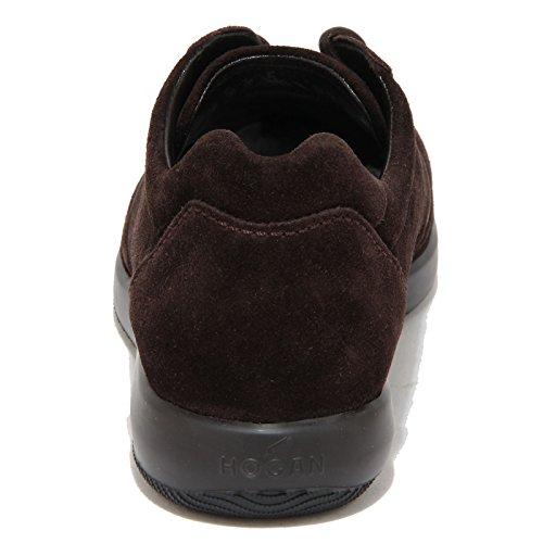 8458N scarpa uomo HOGAN DRESS MODELLO SPORTIVO marrone suede shoes men Marrone