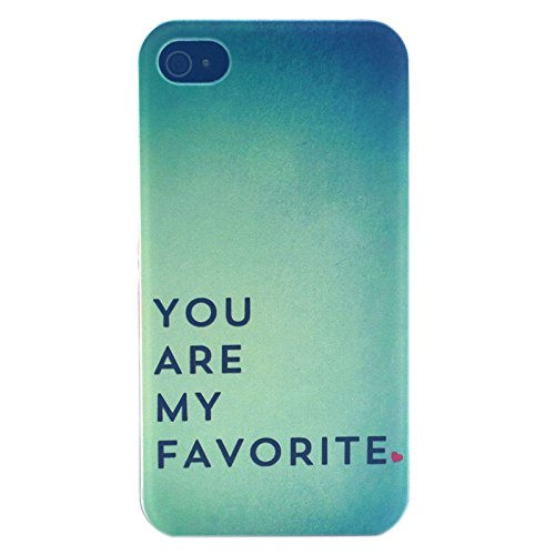 [A4E] Coque rigide, Coque pour Apple iPhone 4 (4G/4S), divers motifs YOLO - favorite
