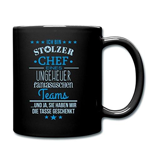 stolzer-chef-eines-fantastischen-teams-tasse-einfarbig-von-spreadshirtr-schwarz