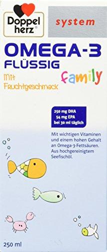 Doppelherz System Omega-3 family flüssig Saft, 250 ml