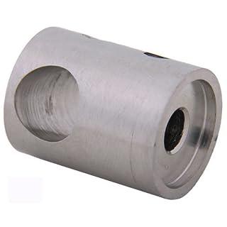 Traversenhalter 12,2 mm flach - Durchgangsbohrung - zweiteilig (S012645)