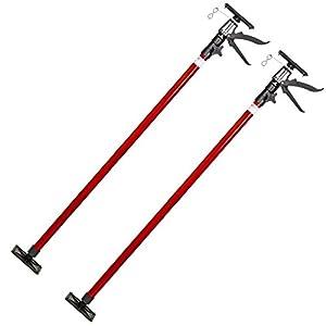 419skjqgnsL. SS300  - TecTake PUNTAL EXPANSION TELESCÓPICO REFORZADO SOPORTE PARA TECHO 115-290 cm - varios modelos - (2x Rojo | no. 402399)