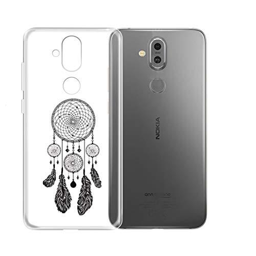 "KJYF Hülle für Nokia8.1(6.18""), Schutzhülle Bumper Hülle Cover TPU Silikon Schale Ultra Dünn Case Handyhülle Cover.[WM22]"