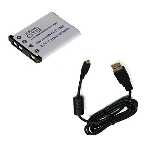 bg-akku24 Akku und Ladekabel, Datenkabel, USB-Kabel für Fujifilm FinePix JX680, JX695, JX700, JX710, T350, T360, T400, T410, T500, T510, T550, T560 (Fuji T500 Finepix)