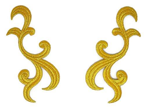 Gold Trim Fransen Blätter FLORAL BOUQUET bestickt Nähen Eisen auf Patch Cartoon Nähen Eisen auf bestickte Applikation Craft handgefertigt Baby Kid Girl Frauen Tücher DIY Kostüm Zubehör Floral Gold Trim