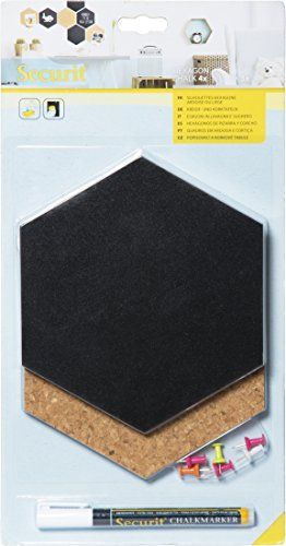 Securit Cork Board Silhouette Hexagon