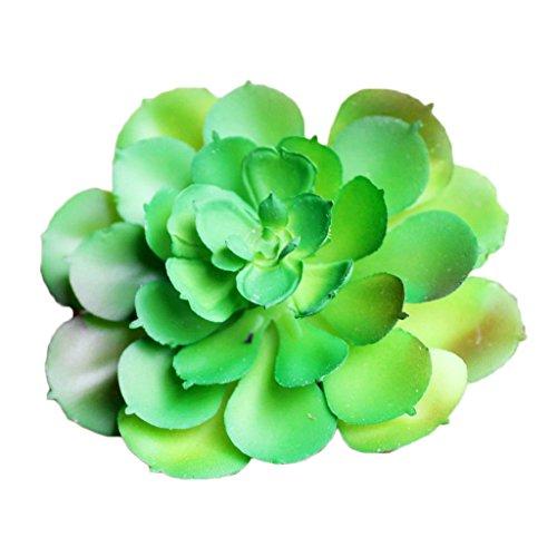 GUOYIHUA 1 stücke Künstliche Sukkulenten Real Touch Alocasia Blume Grünpflanze Decor Green