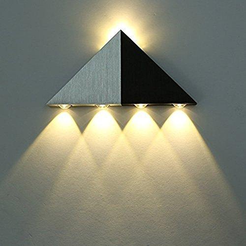 Lightess 5W LED Wandleuchte Modern Design Innene Wandlampen aus Aluminum Up und Down Design Flurlampe Treppenleuchten Designerlampen 5 x LED Lichtquelle (im Lieferumfang enthalten), Warmweiß (Innen-led-beleuchtung-befestigungen)