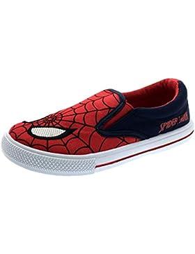 Boys Kids Ultimate Spiderman Canvas Pumps flache Schuhe Sneaker, EU 21