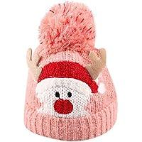 Happy Event Baby Kinder Mütze für Jungen Mädchen | Mütze Baumwolle Gestrickte Ball warme Weihnachtsmützen