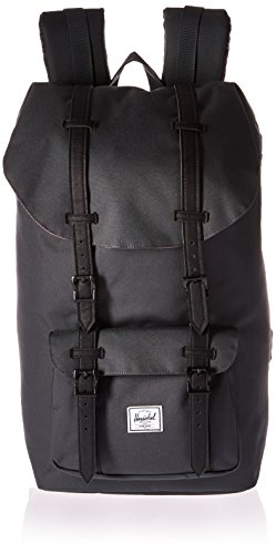 herschel-little-america-zaino-25-litri-taglia-unica-nero-grigio-dark-shadow-black-black-rubber