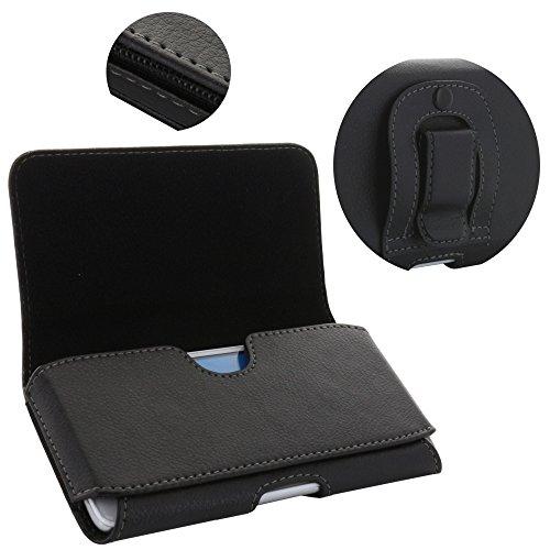 Handy Gürteltasche 1.4 Tasche mit Stahlclip für Huawei Honor 5X 6X 7X / 9 Lite/P Smart/Moto G5 G5s Plus/Handytasche schwarz