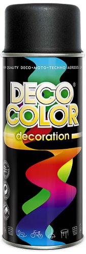 1 Stück 400ml Lackspray Spraydose Dekorfarbe Schwarz matt RAL 9005 10150