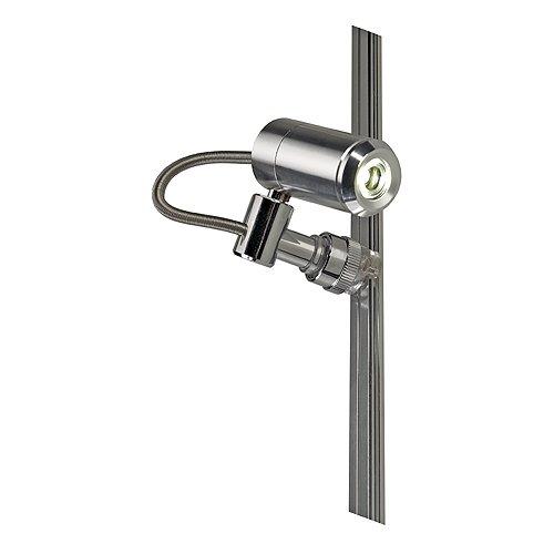 Slv led spot - Proyector ledspot mini alutrack 1w cromo/cromada blanco calida