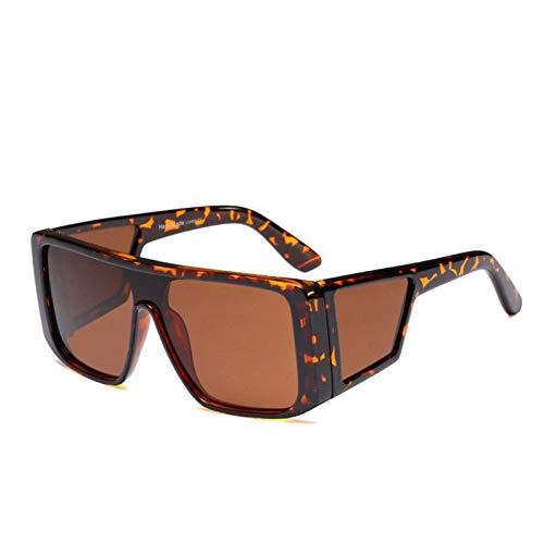 HYUHYU Hohe Qualität Unisex Flat Top Platz Sonnenbrille Frauen Neue Marke Vintage Goggle Sonnenbrille Für Männer Kühlen Gold Spiegel Shades
