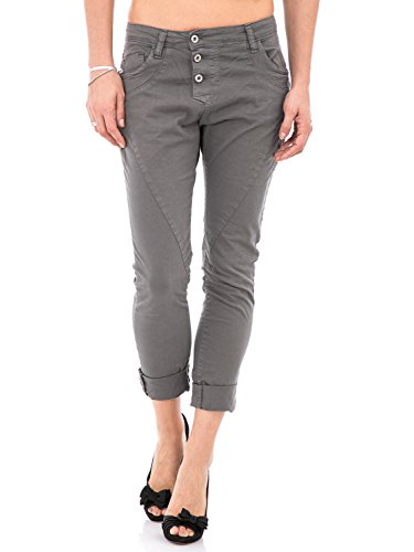 PLEASE - P78a jeans pantaloni da donna baggy boyfriend basic l grigio scuro
