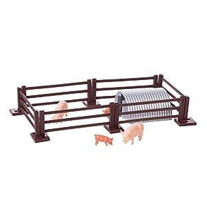 Gran Bretaña 43140 - Cerdos con una Cerca y un Granero, Figura de Juguete