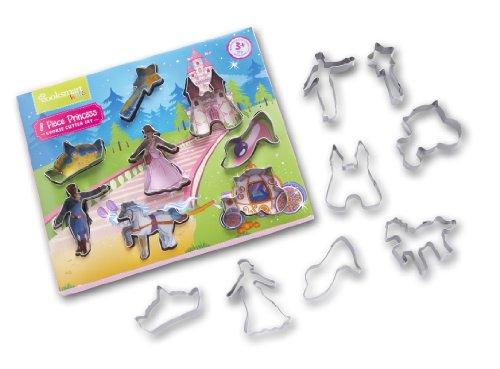 Cooksmart für Kinder 8 - teiliges Ausstechformen - Set mit Prinzessin - Motiven