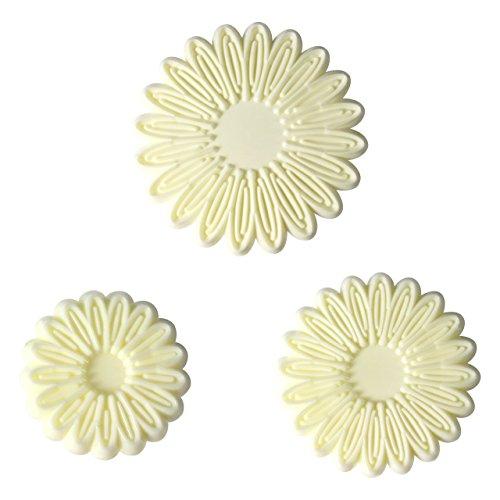 PME 103FF051 Jem Kleine Ausstecher für jeweils Einen Schwung Blütenblätter von Margeriten und Gerbera, Sortiment, Kunststoff, Ivory, 9 x 1 x 25 cm, 3-teilig (Gerbera Daisy Cutter)