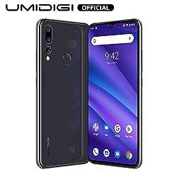 "UMIDIGI A5 Pro Smartphone ohne vertrag, Handy 4GB+32GB(256GB erweiterbar), 6.3"" FHD+ Waterdrop Full Screen, Triple Kamera(16MP+8MP+5MP), Glasrückseite, Android 9.0, Dual SIM, Global Version (Grau)"