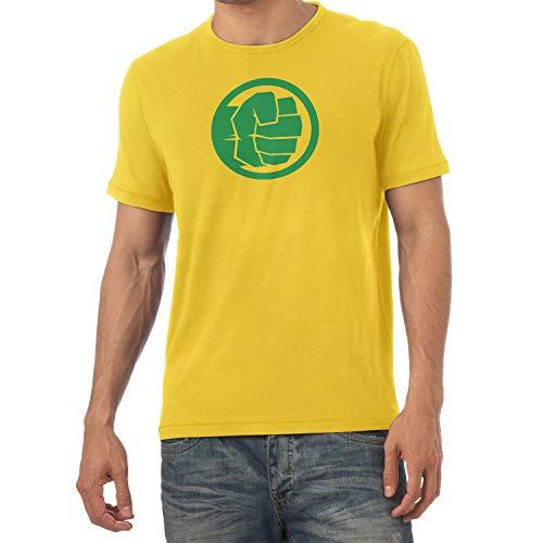 (Texlab Smashing Fist - Herren T-Shirt, Größe XXL, gelb)