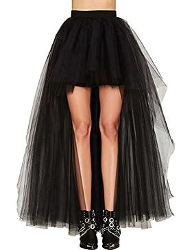 Faldas Mujer Verano Tallas Grandes Elegante Celebración Tamaño Largo Niñas Ropa Delantero Corto Tul Party Moda...