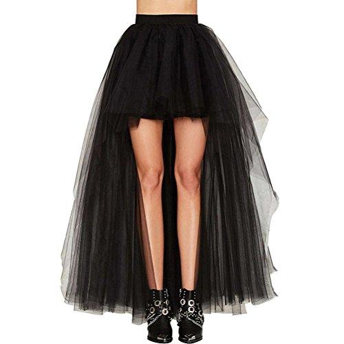 42ad451f048e Mieuid Faldas Mujer Verano Tallas Grandes Elegante Celebración Tamaño Largo  Delantero Corto Tul Party Moda Woman Irregular Coctel Negro Falda