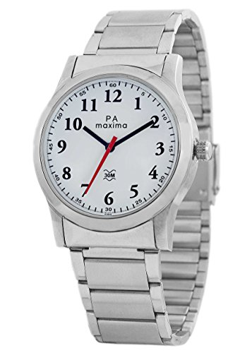 Maxima Analog White Dial Men's Watch - 42840CMGI
