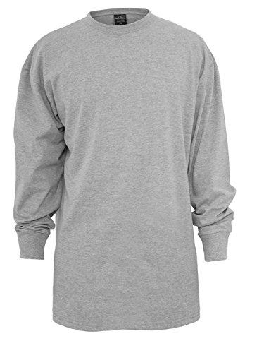 Urban Classics Herren Langarmshirt Tall Tee L/S Grau (Grey 00111)
