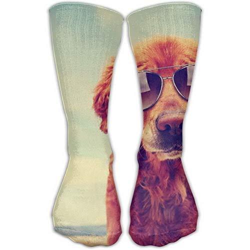 Girls Classics One Size Warm Winter Knee High Socks Men's Cute Golden Retriever Long Tube Stockings for Athletic Soccer -
