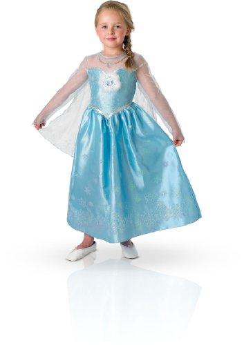 Rubies - 154985M - Kostüm - Panoplie Luxe - ELSA Die Eiskönigin, M (5-6 - Elsa Kostüm Für Verkauf