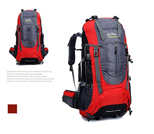 Wanderrucksack Berg Taschen Outdoor-Sport-Multifunktions-Reise Red