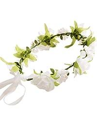 Malloom 1Pcs Bebé flor hecha a mano diadema corona tocado