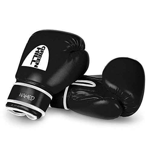 Green Hill Boxing Gloves Hamed Children (Black, 6 OZ) -