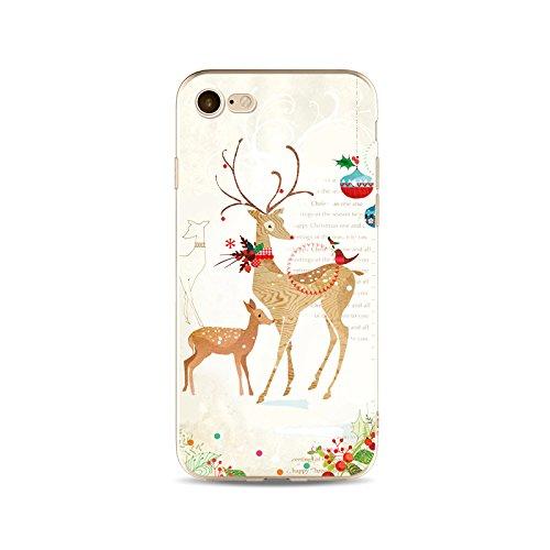 iPhone 5S Hülle Silikon Christmas,iPhone 5S Handytasche HandyHülle,Transparent Clear Schutzhülle Slim für 4.0