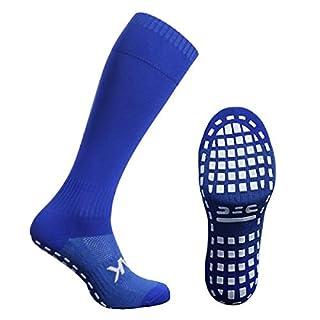 Atak Sports Men's Full Length Non Slip Sports Socks, Royal Blue, 6-8